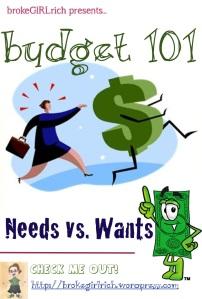 Budget 101: Needs vs Wants