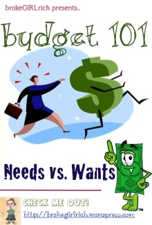 Budget 101: Needs vs Wants