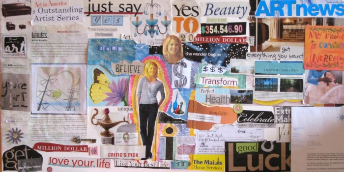 Old School Vision Board (Circa 1998) - Bust out your Mod Podge and go to town!
